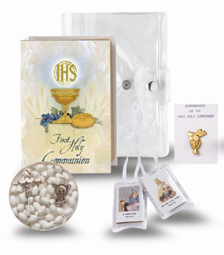 """BLESSED TRINITY"" 5-PIECE FIRST COMMUNION GIFT SET"