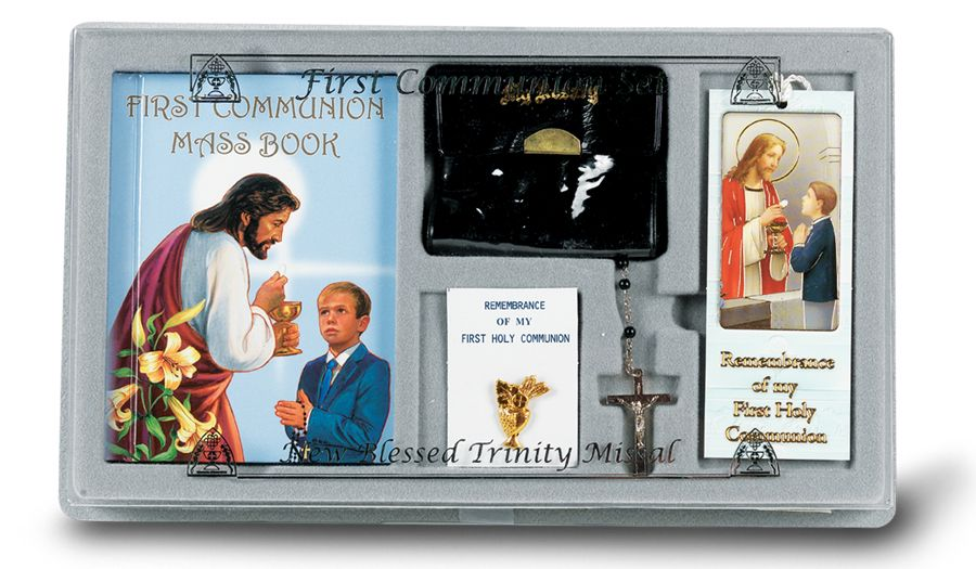 BOY FIRST COMMUNION 6-PIECE GIFT SET