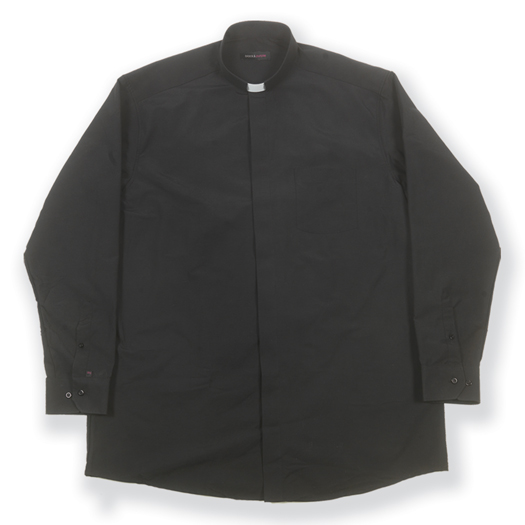 "15"" COTTON/POLYESTER SHORT SLEEVE SINGLE POCKET CLERGY SHIRT"