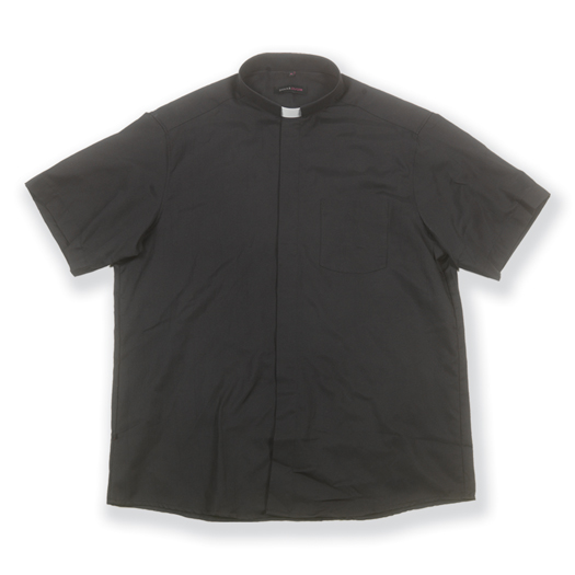 "19 1/2"" COTTON SHORT SLEEVE SINGLE POCKET CLERGY SHIRT"